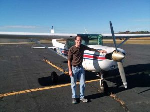 Brandon Loflin's first solo flight 11/2/2017 KHNZ