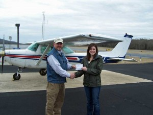 Brittany Waddell, Private Pilot, with Greg Hudson DPE