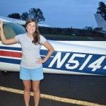 Brittany Waddell Solo Flight August 2014