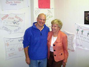 Chris Barger with Barbara Baron