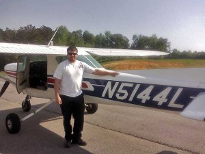 Clint Staples after his first solo flight.