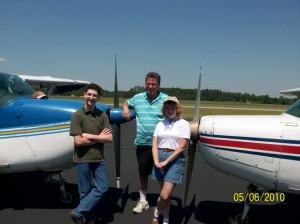 Kevin Barbee & Vickie Barbee with CFII Paul Hesse