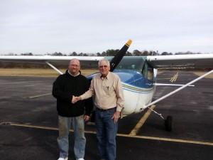 Mike Grissom with DPE Henry Joyner