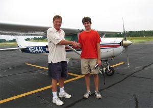 Mitch Plyler solo flight at KHNZ