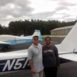 Toral Patel with CFI Matt McKee